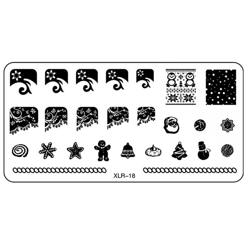 1pcs New DIY Nail Art Image Stamp Christmas Plates Manicure Template DIY Chrome Accessories For Nail Art Manicure Dropship 9.15