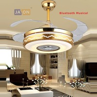 Светодиодный Современный сплав Акрил ABS Bluetooth Музыкальные потолочный вентилятор. светодиодный индикатор. светодиодный свет. потолочных све