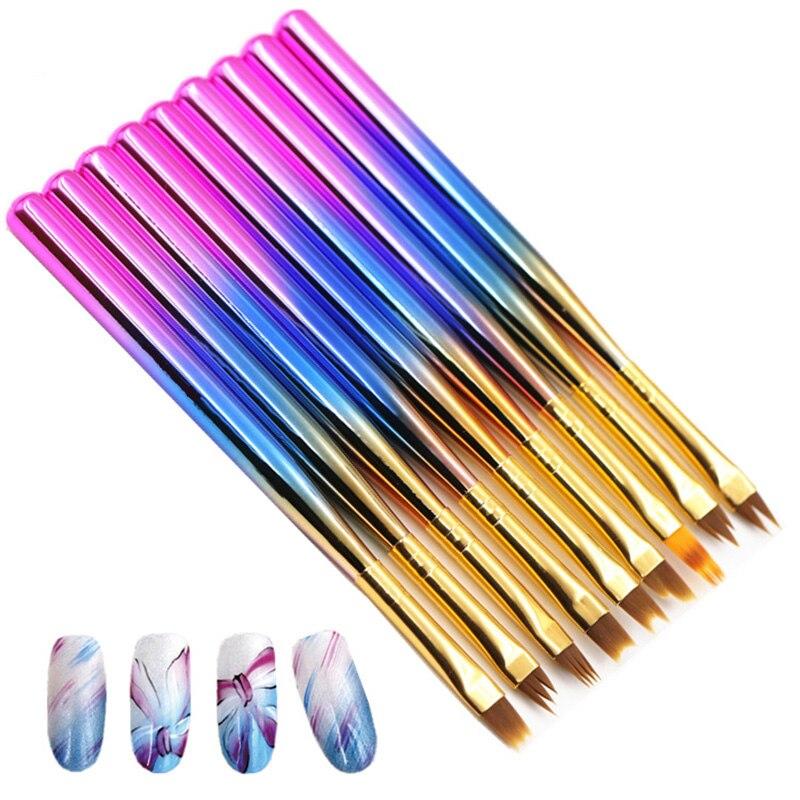 1 pièces Portable Nail Art Poignée Revêtement UV Gel Dégradé Acrylique Peinture Cuticule Supprimer Peinture À Ongles Outil de Manucure Outils