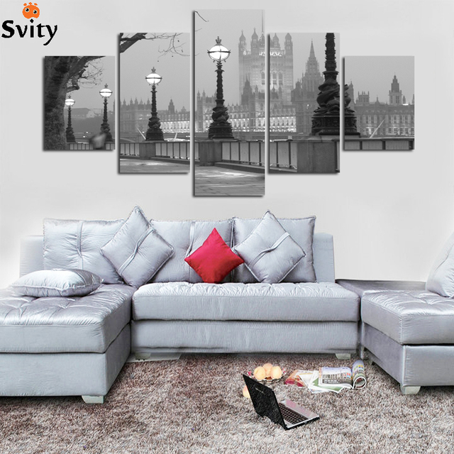 Us 9 75 25 Off Hitam Putih Kota Pemandangan Landscape Lukisan Cetak Di Atas Kanvas Poster Untuk Ruang Duduk Dapur Dekorasi Rumah Seni Dinding