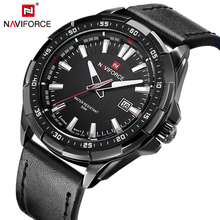 NAVIFORCE Bracelet En Cuir Analogique bracelet de Quartz De Mode Casual Date Montre Hommes Militaire Étanche Horloge Homme Relogio Masculino