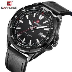 Naviforce leather strap analog quartz wristwatches fashion casual date watch men military waterproof man clock relogio.jpg 250x250