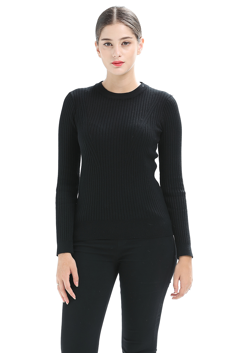 High Quality Cashmere Sweater Women Winter Pullover Solid Knitted Sweater Top For -6780
