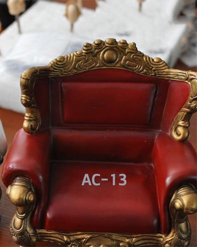 "1 6 Spielzeug Möbel Sessel Leder Sling Chair Sofa Couch F 12 /""Action Figure"