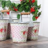Stile europeo Classico Fiore adesivi piccoli fiori rotti barile Vasca Secchio di Latta Forniture Da Giardino