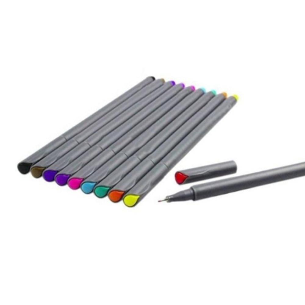10Pcs 0.38mm Fine Line Pen Watercolor Drawing Gel Pen Painting Tool Set Office School Art Supplies Pencil Drop Shipping