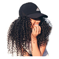 Kinky Curly Human Hair Wig For Women Remy Bleached Knot Peruvian Lace Front Human Hair Wigs Natural Black Ever Beauty