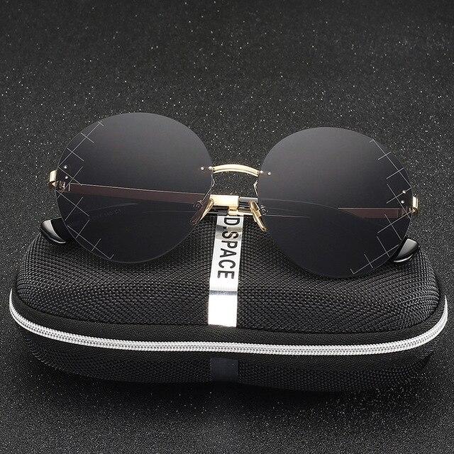 New Brand Designer Mirror Sunglasses Black Round Womens Sunglasses Vintage  Retro John Lennon Glasses Luxury Sunglasses e71b68bb4c433