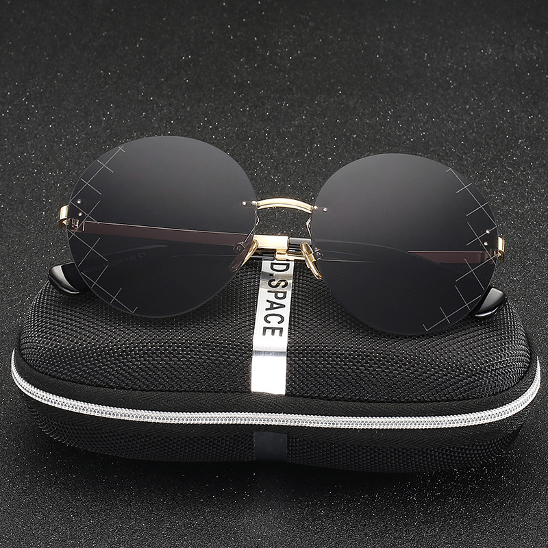 New Brand Designer Mirror Sunglasses Black Round Womens Sunglasses Vintage Retro John Lennon Glasses Luxury Sunglasses UV400