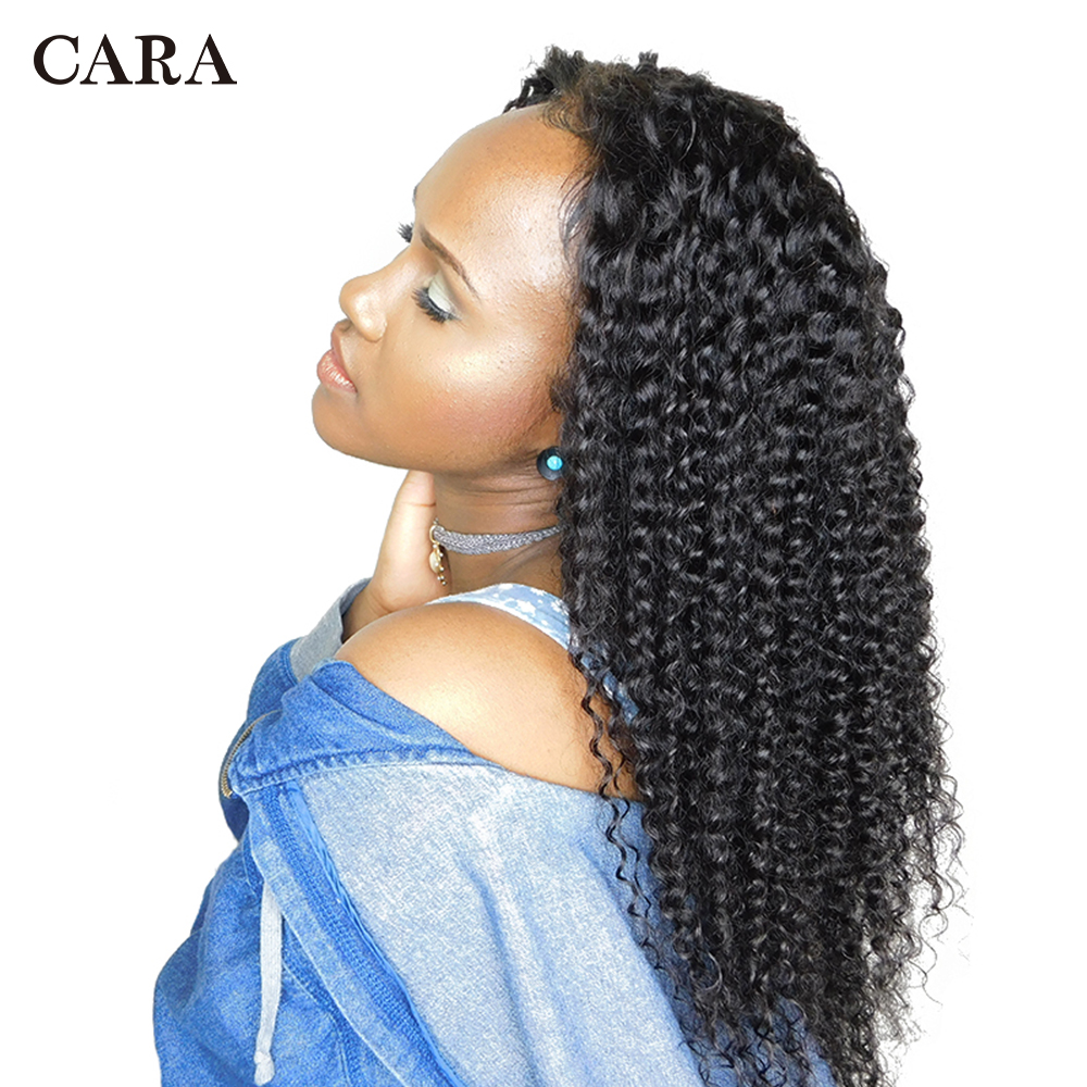CARA Full Lace Human Hair Wigs Remy Hair 130% Density Natural Color Pre Plucked Natural Hairline With Baby Hair