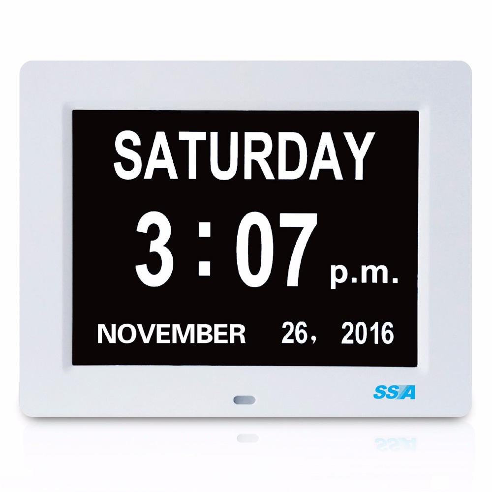 memory loss digital calendar day clock date time clear extra large number digital big time best gift for seniors desk wall clock