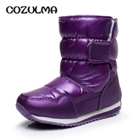 COZULMA Boys Girls Boots Winter Child Warm Cotton Shoes Boys Girls Snow Boots Shoes Toddler Kids