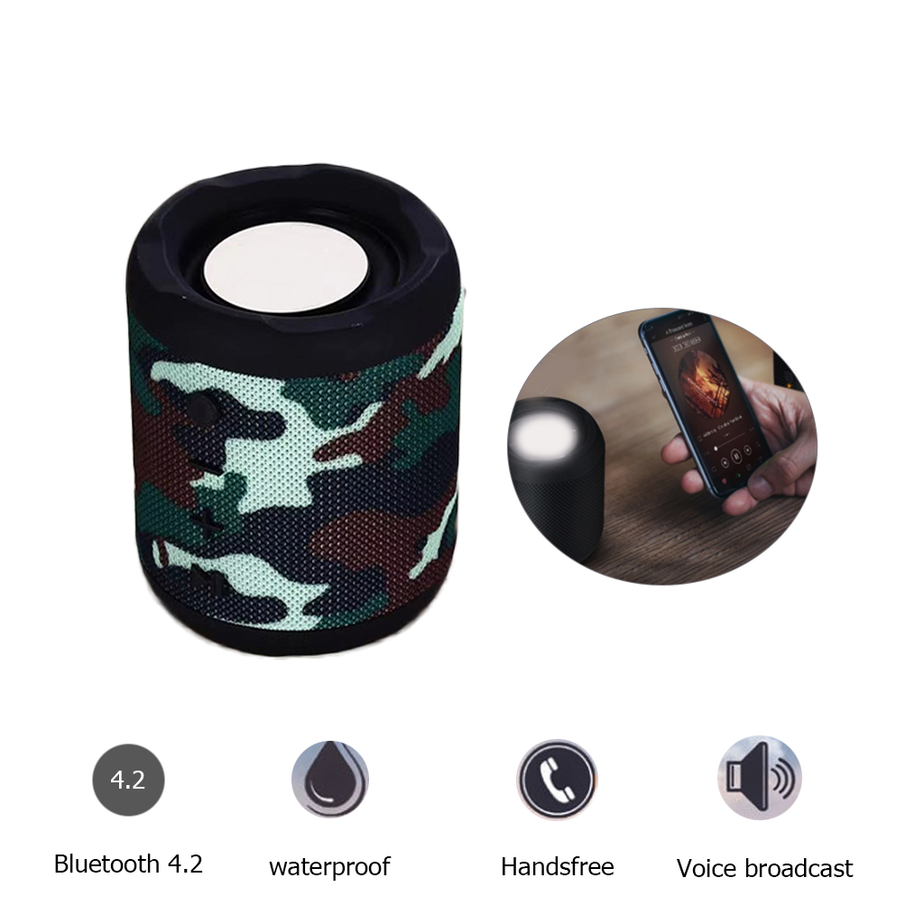 M2 Bluetooth Speaker Portable Wireless Music Column Sound Boom Box Computer Subwoofer With Mic TF USB AUX in Portable Speakers from Consumer Electronics
