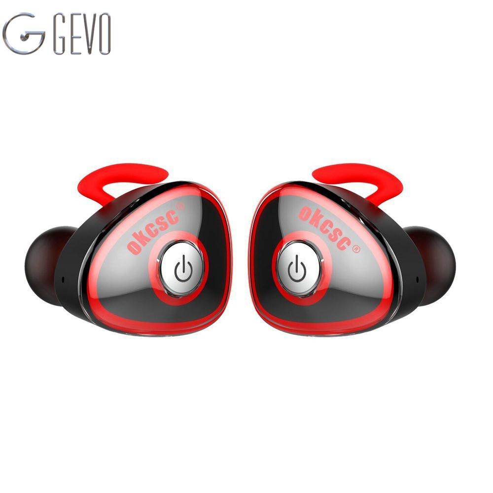 GEVO HC-S0362 True Wireless Sport Bluetooth Earphone Stereo Twins In Ear Earbuds Sports for IPhone 7 xiaomi With Microphone