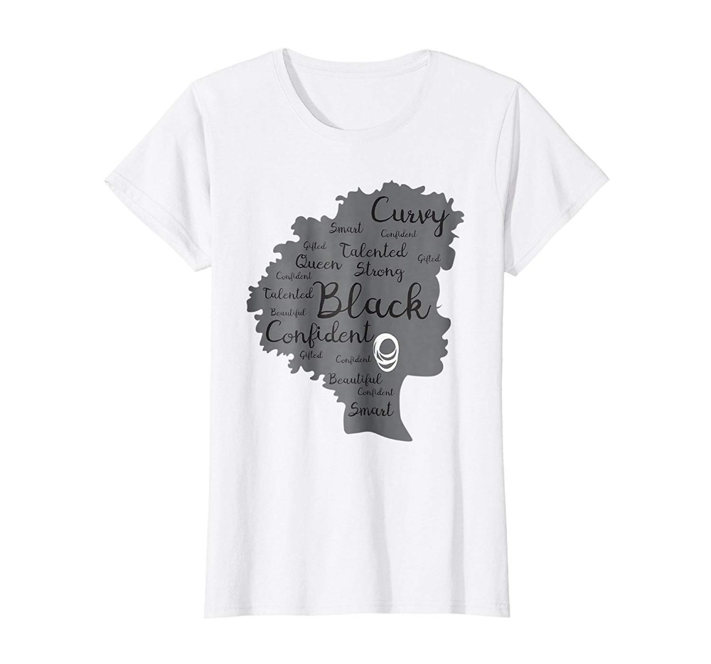 670a3086 Hot Summer cloth Cotton Men T-Shirt High Quality Strong Black Woman Afro  Word Art