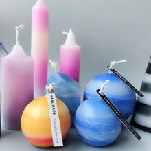 Colored wax particles for candle, DIY material of aromatherapy long pole tip mineral candle planet oil painting