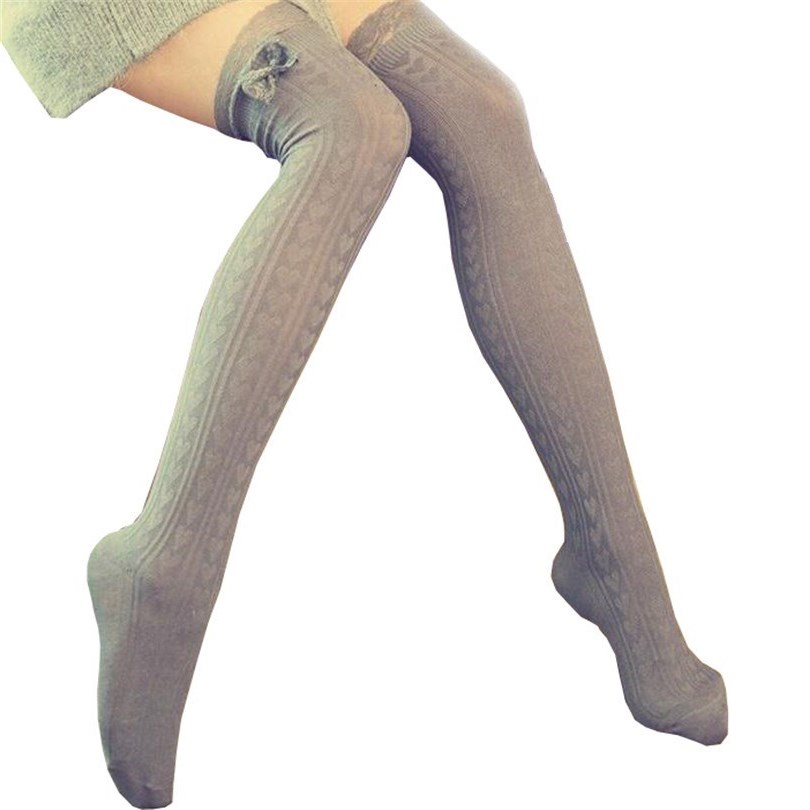 ac73c01a08c47 Fashion Sexy Warm Thigh High Over The Knee Socks Long Cotton Stockings For  Girls Lady Women Sexy Retro Heart Vertical Lace 2019
