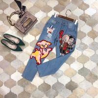 Модные женские джинсы 2019 взлетно посадочной полосы Элитный бренд Европейский дизайн вечерние Стиль Женская одежда WD01263
