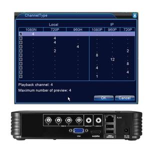 Image 3 - BESDER 4 Channel 8 Channel AHD DVR Surveillance Security CCTV Recorder DVR 4CH 720P 8CH 1080N Hybrid Mini DVR For Analog AHD IP