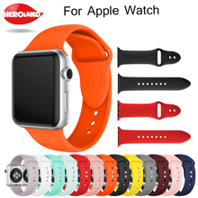 New Sports Silicone Watch strap band for apple watch band Series 1/2/3 42mm 38mm Wrist Strap for watch 4 40mm 44mm bands Bracele silicone double buckle sports watch straps for apple watch band 44mm 42mm 40mm38mm series 5 4 3 2 1 wrist bands for iwatch strap