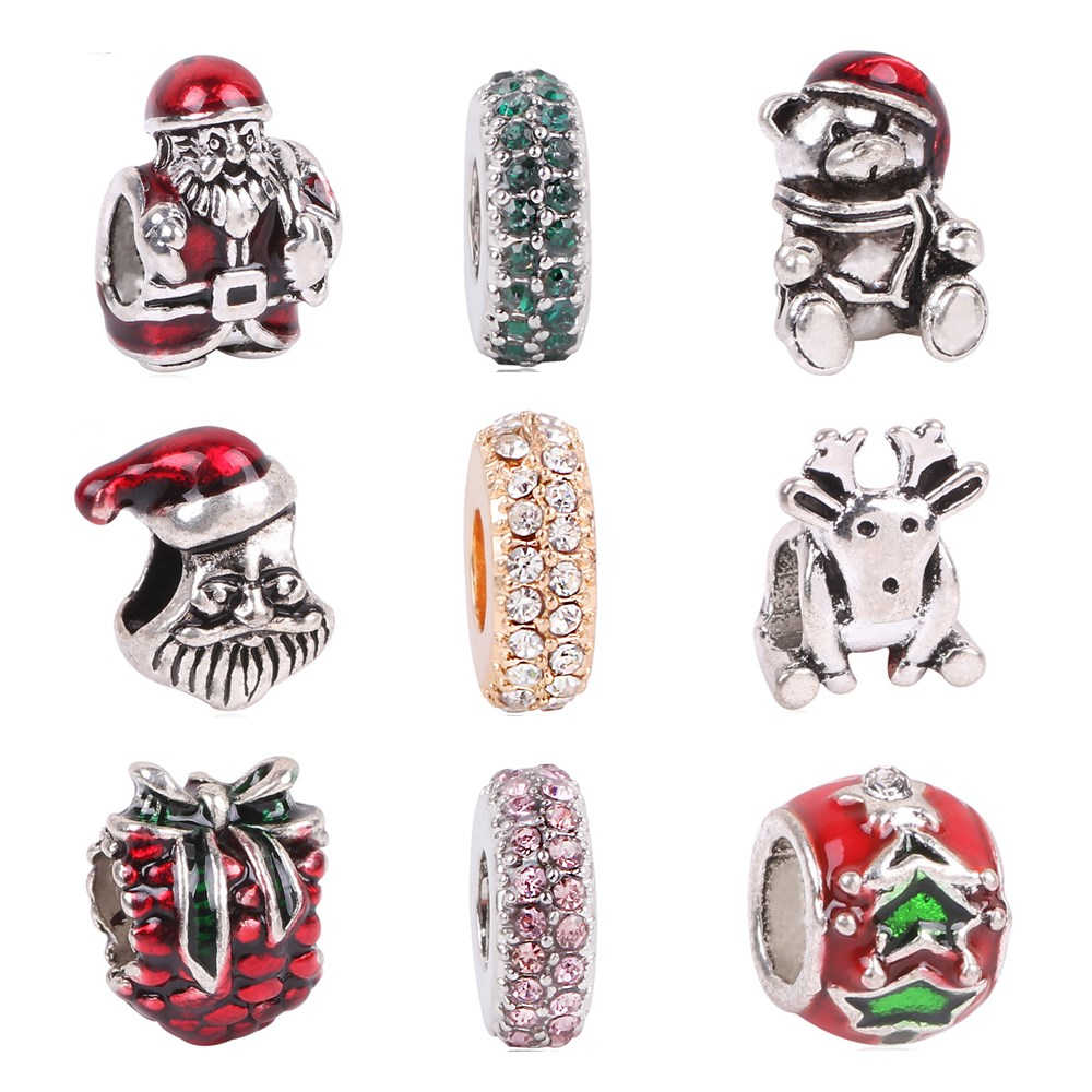 Dodocharms בסגנון באיכות גבוהה אמייל קריסטל אדום אפל חרוז מתאים פנדורה צמידי נשים תכשיטים סיטונאי Christma
