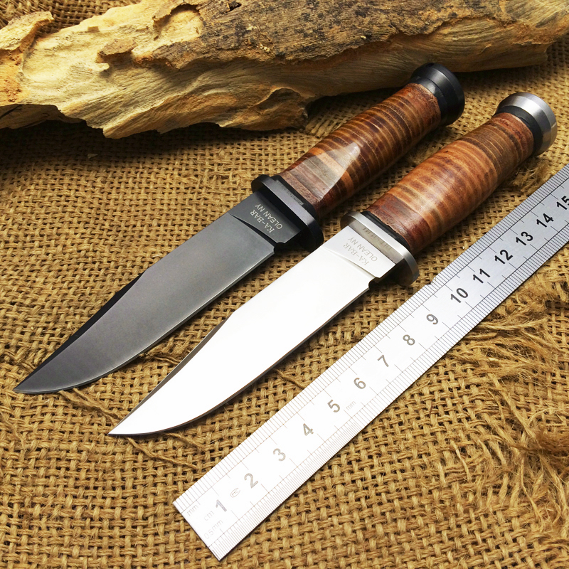 Couteau fixe tactique NY USN MK1 de KA-BAR 7CR17Mov lame couteaux droits d'extérieur couteaux de chasse de sauvetage Camping outils multiples
