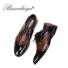 Soft Breathable BIMUDUIYU Fashion Oxford Business Shoes