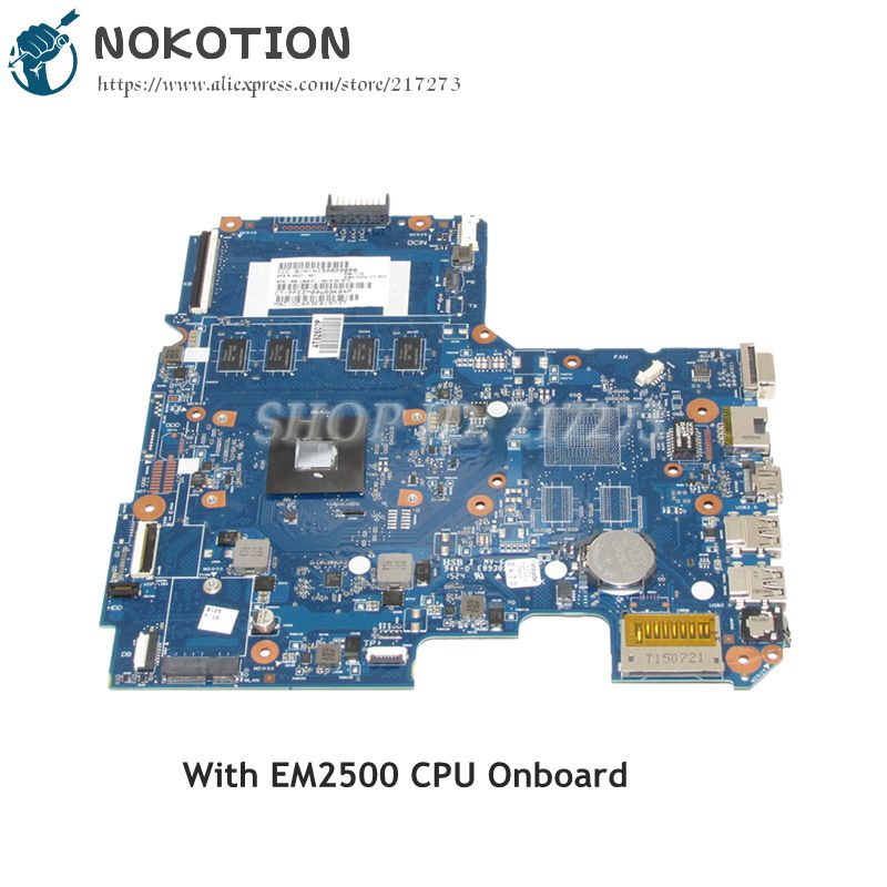 NOKOTION 814507-001 814507-501 For Hp pavilion 14-AF Laptop Motherboard 6050A2731301-MB-A01 EM2500 CPU DDR3 nokotion 746017 001 746017 501 for hp probook 645 655 g1 laptop motherboard ddr3 6050a2567101 mb a02