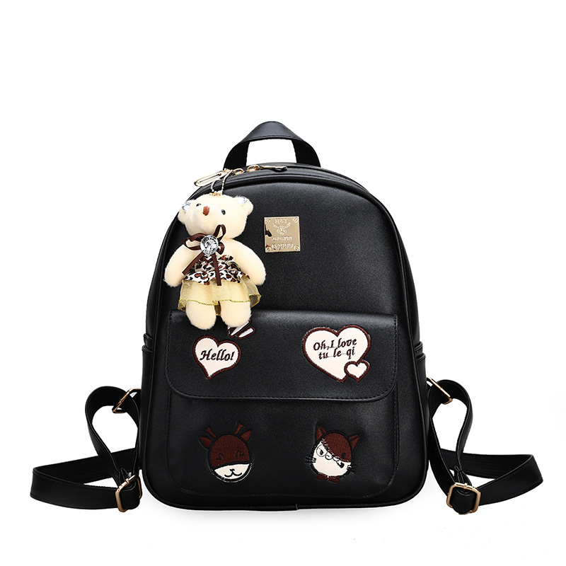 New Fashion Women Cute Backpack Preppy Style Leather Backpack For Girls High Quality School Bags For