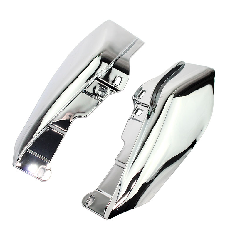 Motorcycle Chrome Heat Shield Mid-Frame Air Deflector Trim For Harley Touring Street Glide FLHX 2009-2016 2015 2014 2013 2012 11