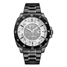 6.11 НОВЫЙ бренд солнечные часы мужчины роскошные часы полный Нержавеющей стали наручные часы с подарочной коробке WGD005