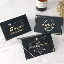 5/pcs Holiday General Greeting Card Gold stamping Business Thanksgiving Birthday