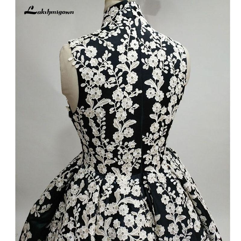 Högsta halsen Svart Aftonklänning Bollfärge Ärmlös Satin - Särskilda tillfällen klänningar - Foto 4