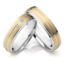 De descuento de la joyería fina de oro chapado de compromiso alianzas de boda parejas de novia aniversario anillos set anillos anel de casamento