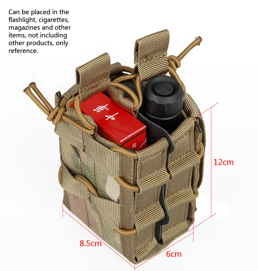Tactical Magazine Pouch Military Army Molle Pouch 1000D Nylon CP Airsoft Gear Double Decker Magazine Mag Pouch PP6-0097