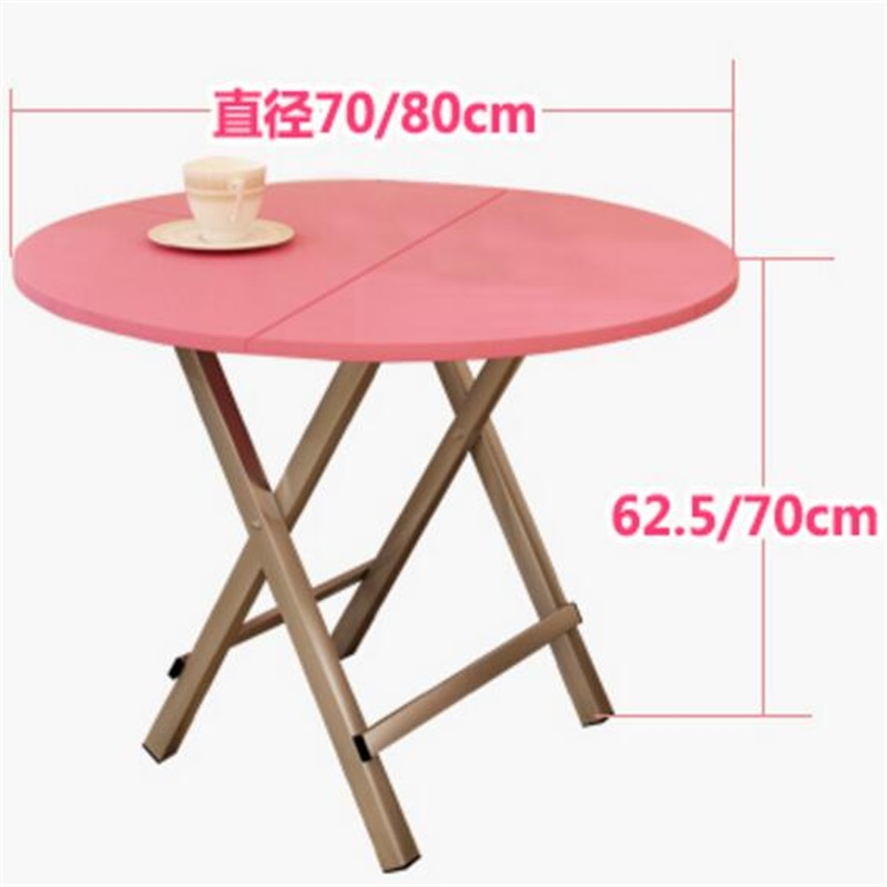 70*70*62.5CM Portable Folding Dining Table Outdoor Round Camping Table Wood Modern Garden Table