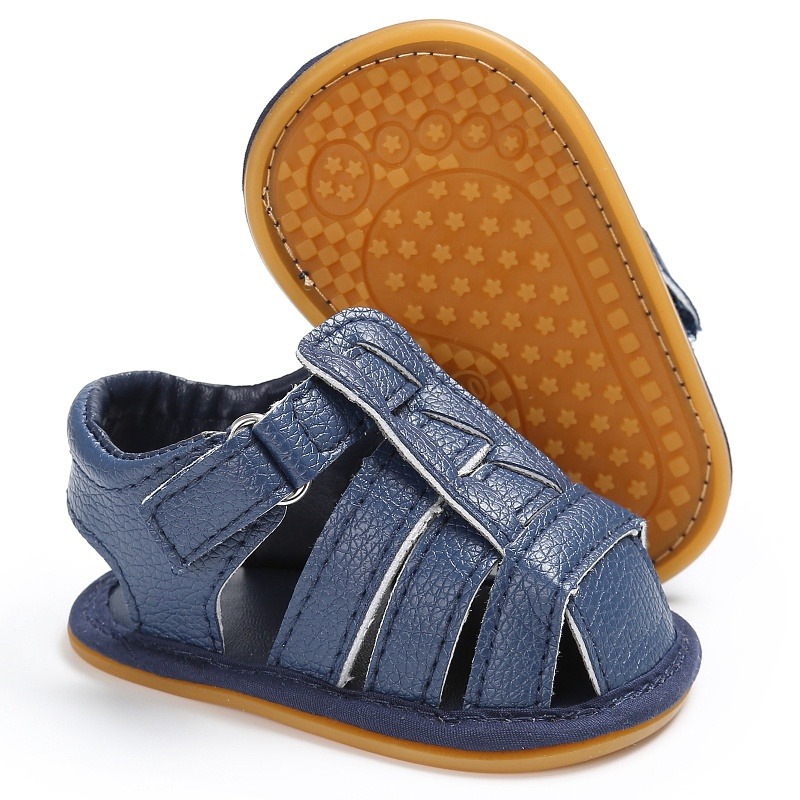 2017-Summer-Sandals-Leisure-Fashion-Girls-Boys-Sandals-For-Children-PU-First-Walkers-Black-Shoes-2