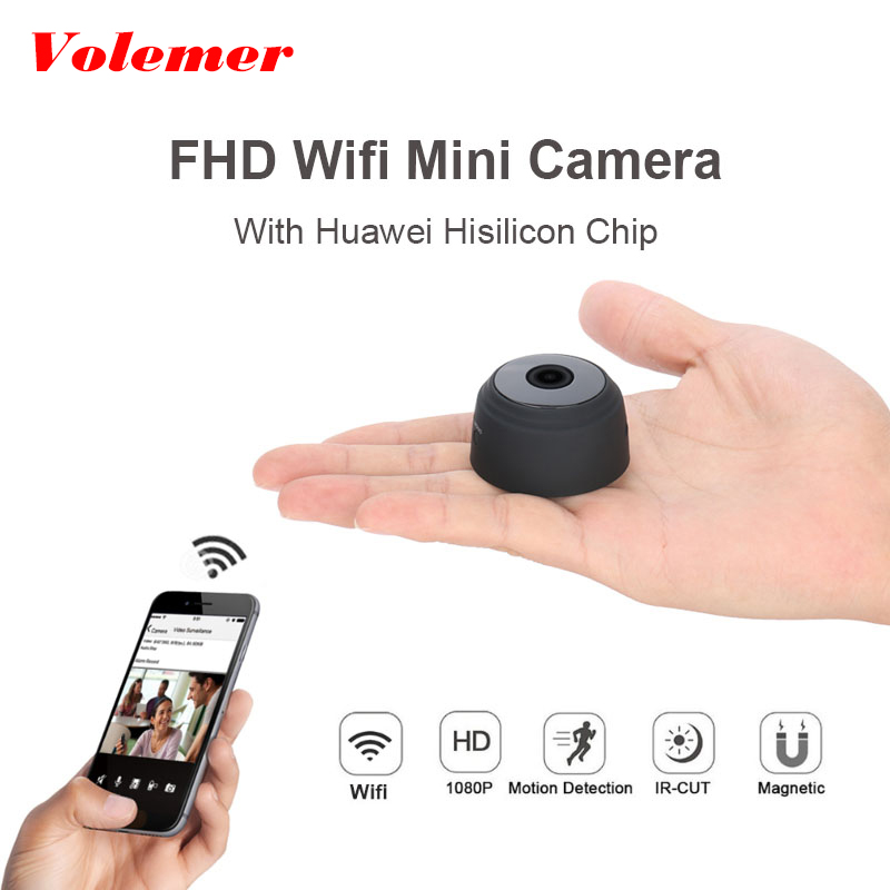 Volemer A9 Wifi Mini Camera HD 1080p Vehicle camera Night Version Mini DVR Smallest camera Motion Sensor IP P2P Cam Mini Kamera