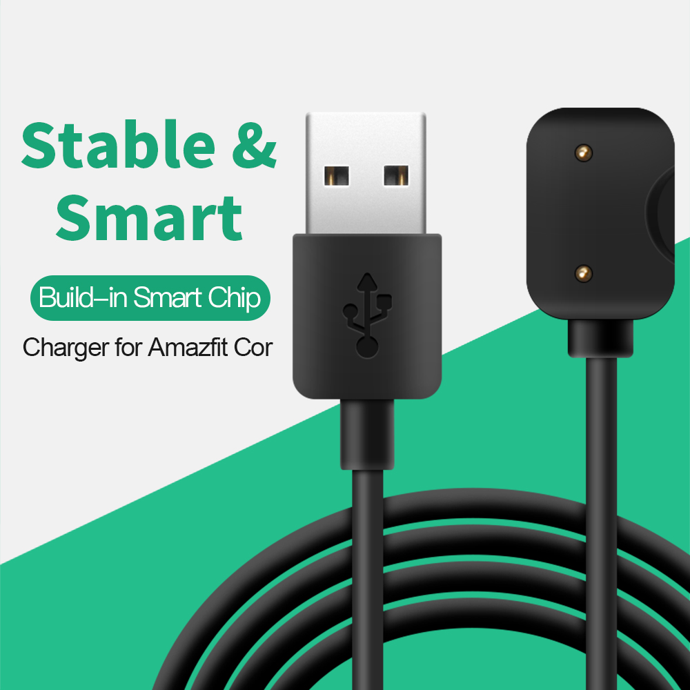 SIKAI 2018 New USB Charger for Amazfit Cor Smart Watch 1m Portable Steady Charging Device for Huami Amazfit Cor Charger 1m replacement usb charging cable dock for xiaomi huami amazfit watch charger fast usb charging cradle charger cable for huami