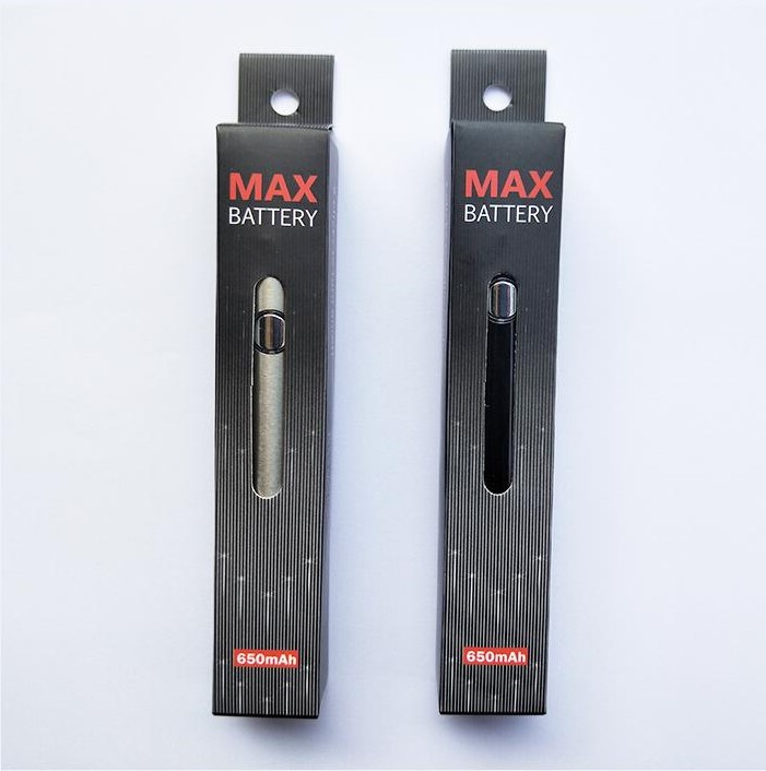 Max Preheat Battery 650mAh Variable Voltage Bottom Charge 510 Battery For Thick Oil Vaporizer Pen Cartridges