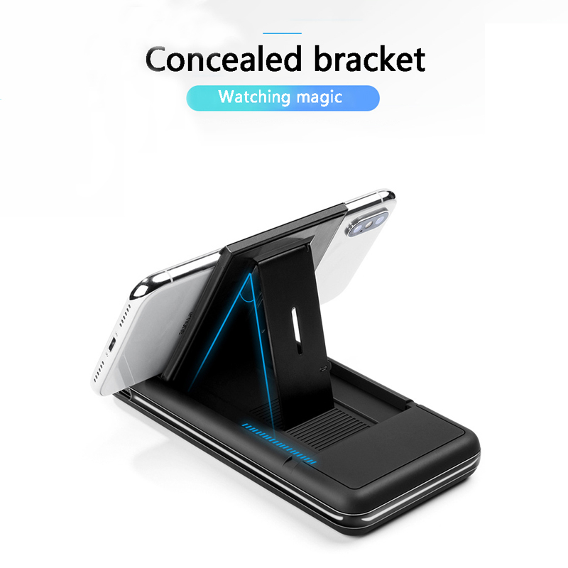 20000mAh Power Bank Digital Display Stand Wireless Charging Mobile Powerwireless Charging For IPhone X For Honor Hot Sales