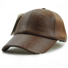 Xthree New fashion high quality fall winter men leather hat Cap casual moto snapback hat men's baseball cap wholesale