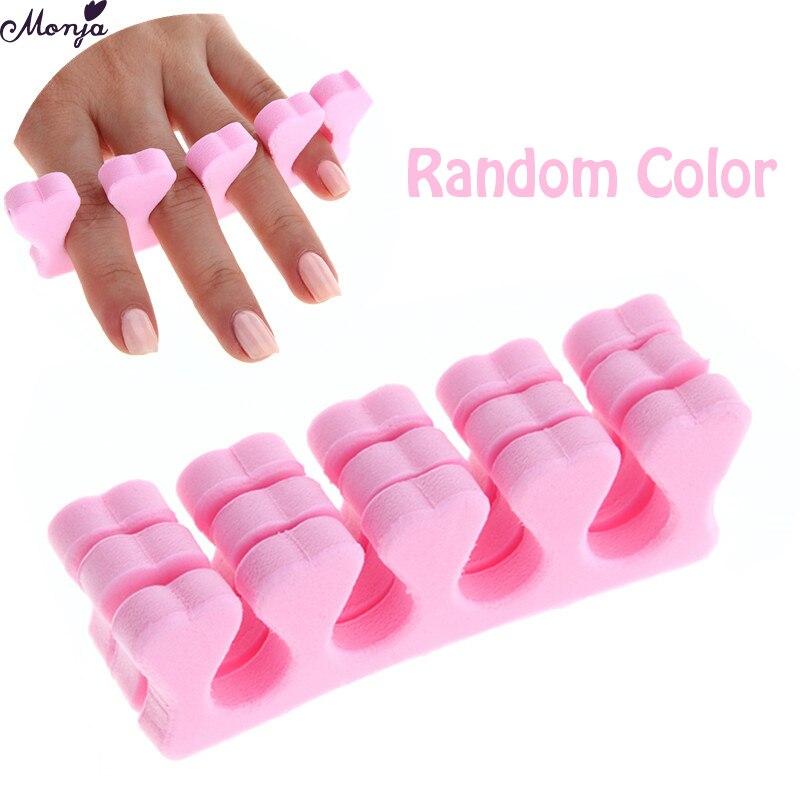 Monja 100Pcs Nail Art Soft Foam Sponge Finger Toe Separators Nail Extending Painting Coating Anti Touch Separate Manicure Tools