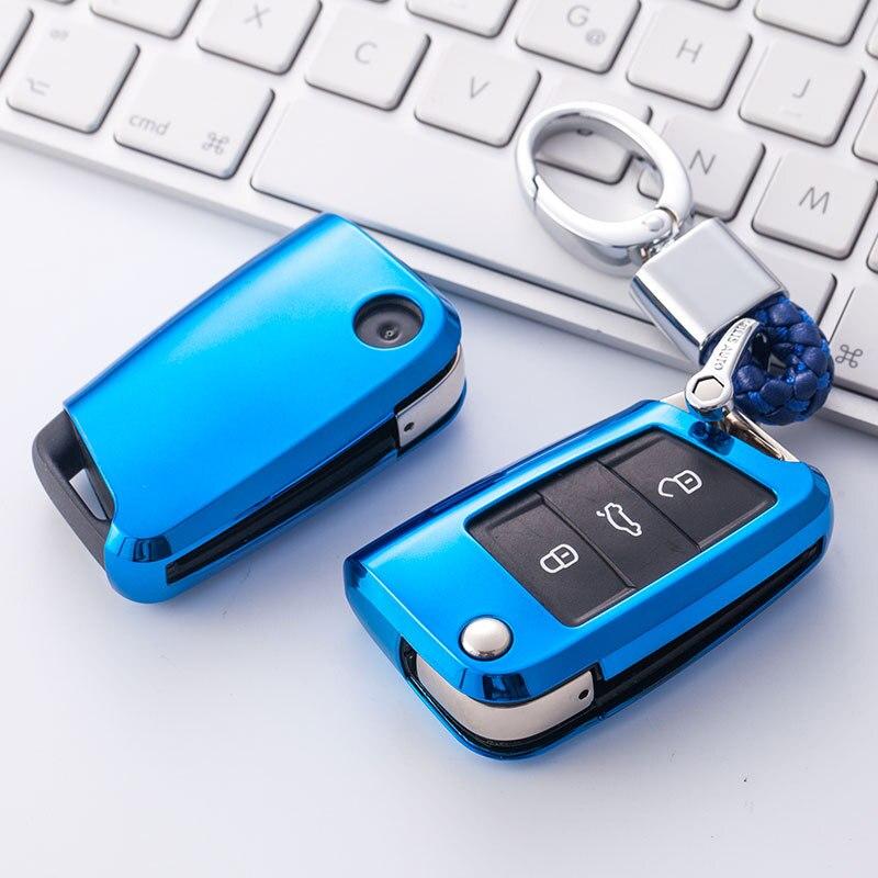 2019 nouveau boîtier de clé souple en TPU pour voiture pour Volkswagen pour VW TIGUAN Golf pour Skoda Octavia coque de voiture clé Protection Accessorise