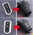 2014 Brand New! 3 Botões/2 Botões Virar Modificado Folding Remoto Chave Caso Shell Para Toyota Prado Highlander Camry Yaris Vios