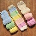 Baratos Calcetines Hasta La Rodilla Bebé Gateando Rodilleras niños Muchacha de Los Niños Calentadores de La Pierna Larga de Algodón Crochet Proteja La Piel Leggings Para Niños