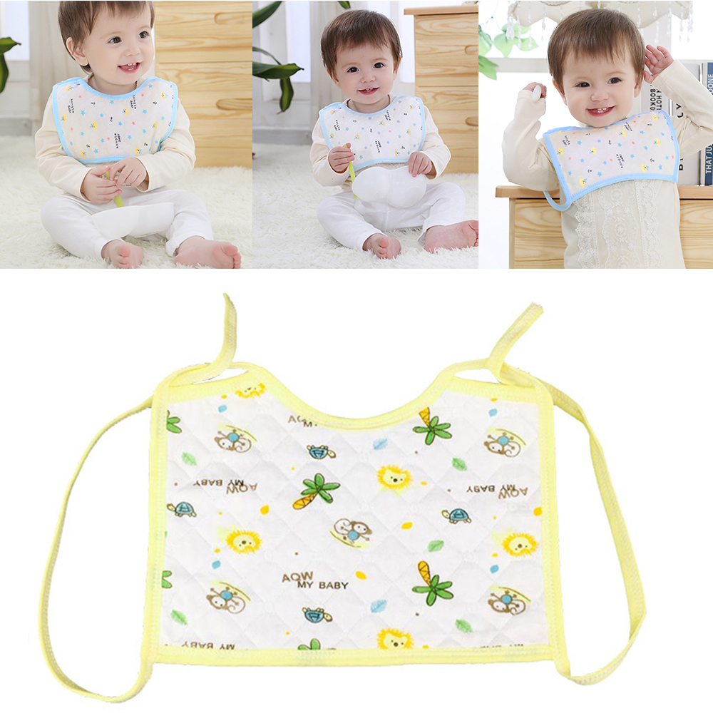 Brand new and high quality Breathable Saliva Towel Baby Bibs Cotton Bib Feeding 3 Color Random Pattern