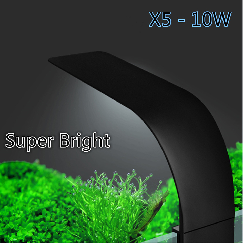 Super Bright LED Aquarium Lights LED Plants Grow Light 5W/10W/15W Aquatic Freshwater Lamps Waterproof Clip on Lamp For Fish Tank 20
