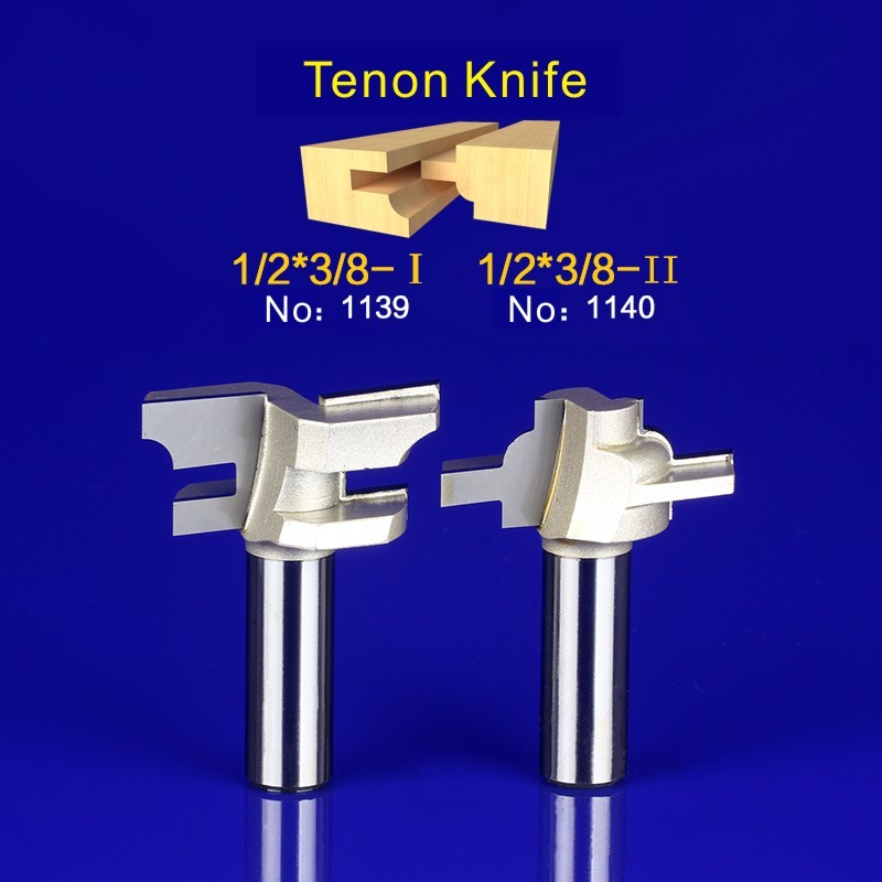 2Pcs Tongue & Groove Router Bit Set 1/2 Inch Shank Wood Milling Cutter door knife 1139-1140 2pcs tongue