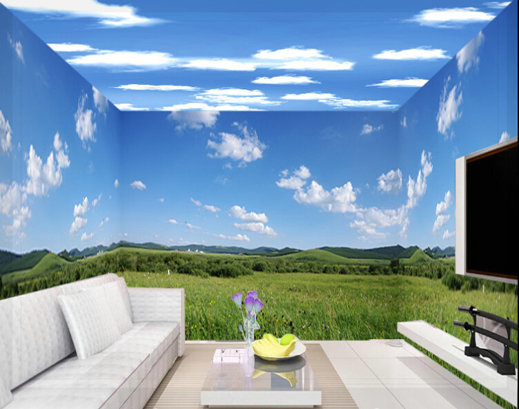Ceiling wallpaper jordimajo com source · a large mural of stereo 3d personalized wallpaper ktv bar ceiling bedroom wallpaper adhesive sky wallpaper